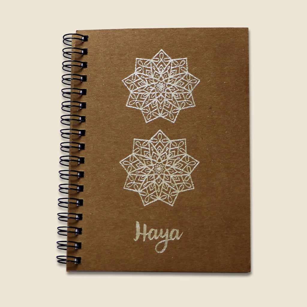 Silver A6 Notebook - Haya