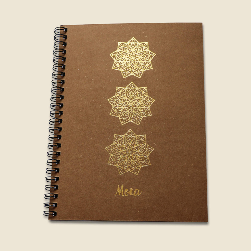 Gold A5 Notebook - Moza