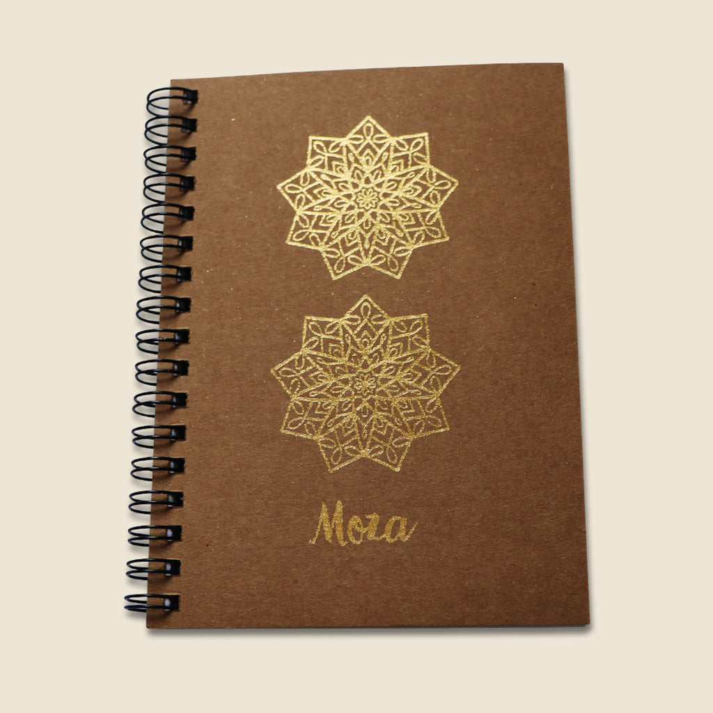 Gold A6 Notebook - Moza