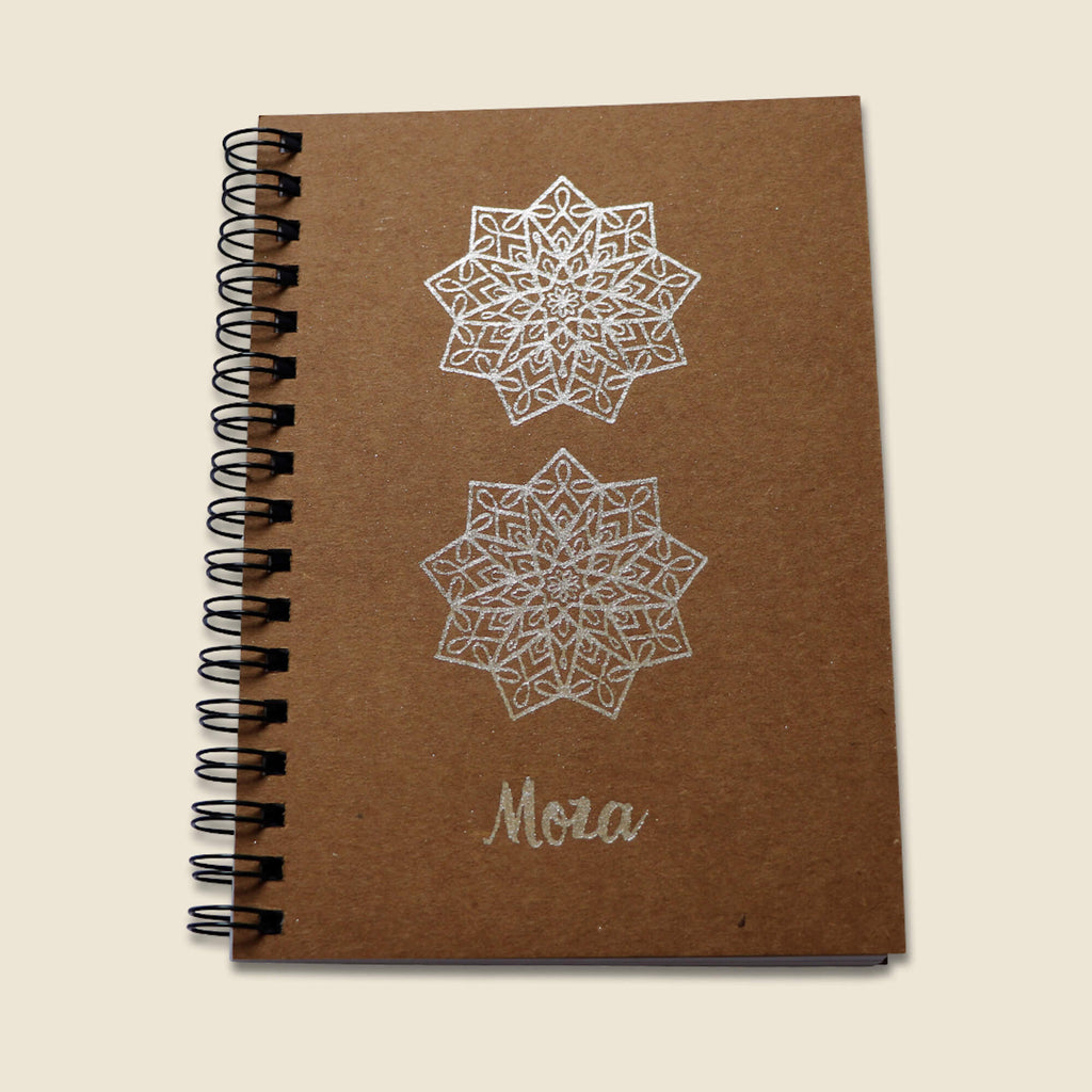 Silver A6 Notebook - Moza
