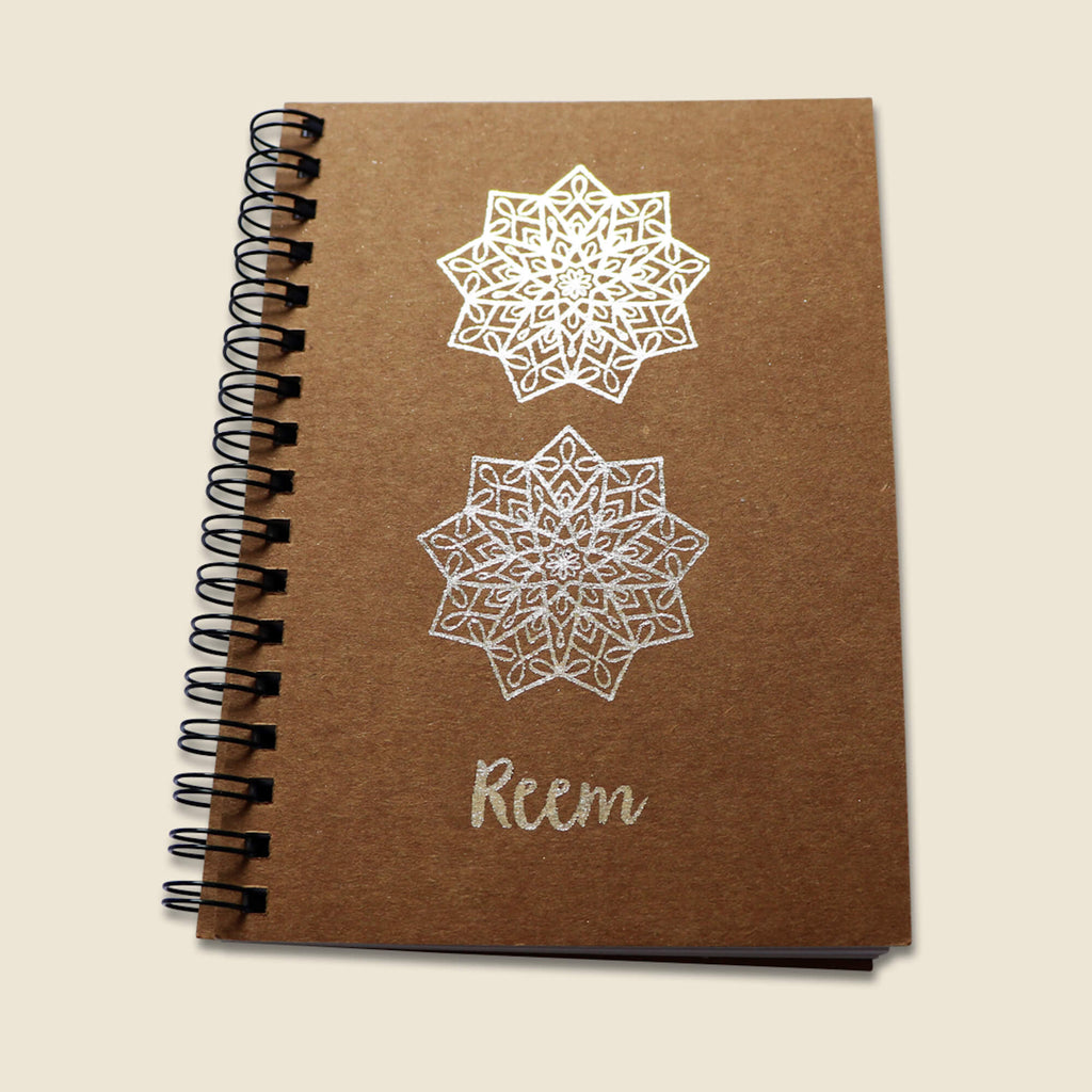 Silver A6 Notebook - Reem