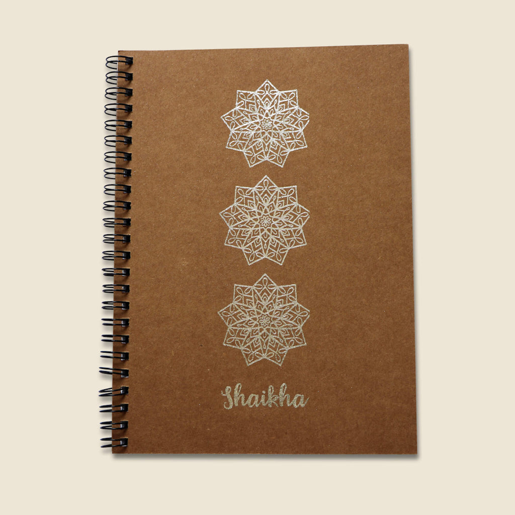 Silver A5 Notebook - Shaikha