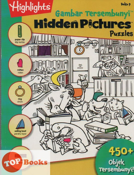[Pelangi Kids] Highlights Gambar Tersembunyi Hidden Pictures Puzzles Buku 9 (Malay & English)