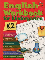 English Workbook for Kindergarten K2 Learn to Write and Phonics 204 pages