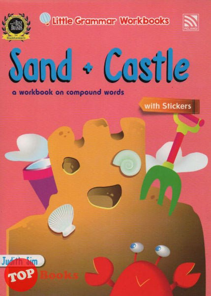 [Pelangi Kids] Little Grammar Workbooks with Stickers Sand + Castle (a workbook on compound words)