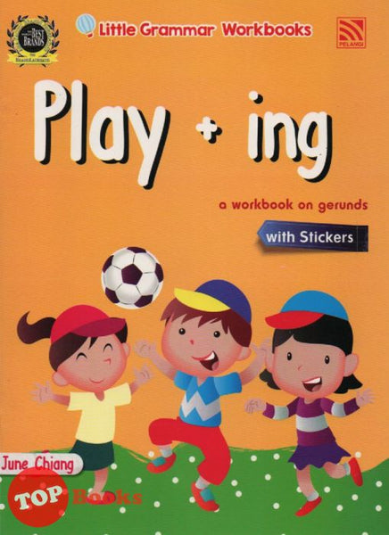 Little Grammar Workbooks With Stickers - Play + ing (a workbook on gerunds)