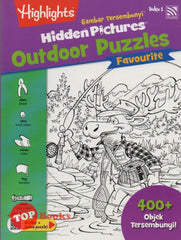 Highlights - Gambar Tersembunyi - Hidden Pictures Outdoor Puzzles Favourite - Buku 1 (BM/BI)