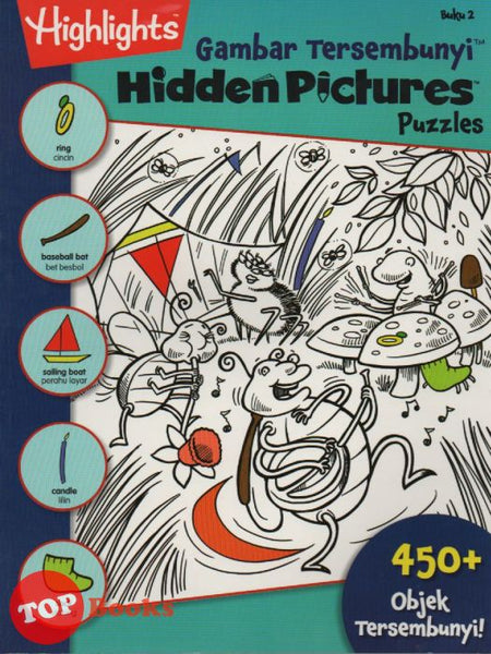Highlight- Gambar Tersembunyi-Hidden Picture Puzzles- Buku 2 (Bahasa / English)