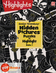 Highlights - Gambar Tersembunyi - Hidden Pictures Puzzles to Highlight - Buku 1 (BM/BI)
