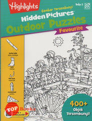 Highlights - Gambar Tersembunyi - Hidden Pictures Outdoor Puzzles Favourite - Buku 2 (BM/BI)