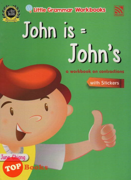 [Pelangi Kids] Little Grammar Workbooks with Stickers John is = John's (a workbook on contractions)