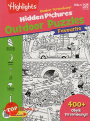 Highlights - Gambar Tersembunyi - Hidden Pictures Outdoor Puzzles Favourite - Buku 3 (BM/BI)