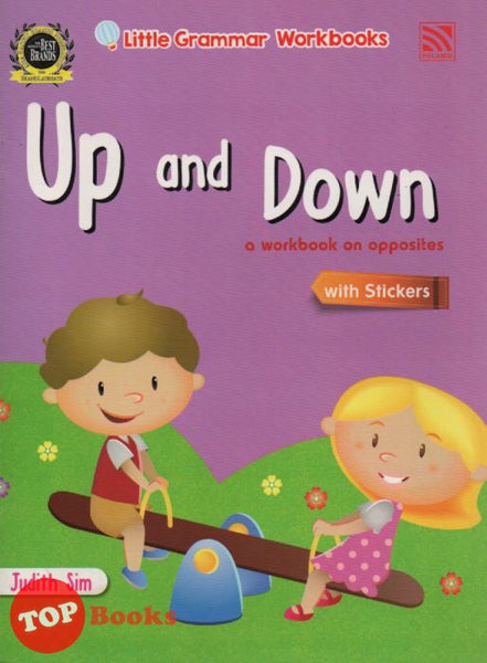 Little Grammar Workbooks With Stickers - Up and Down (a workbook on opposites)