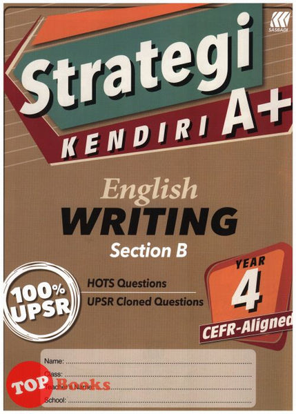 [Sasbadi] Strategi Kendiri A+ English Writing Section B Year 4 CEFR Aligned (2021)