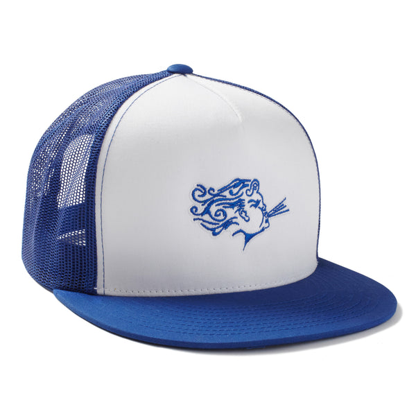 Blue Embroided Snap Back Hat - Myo-Breathe Performance Skincare
