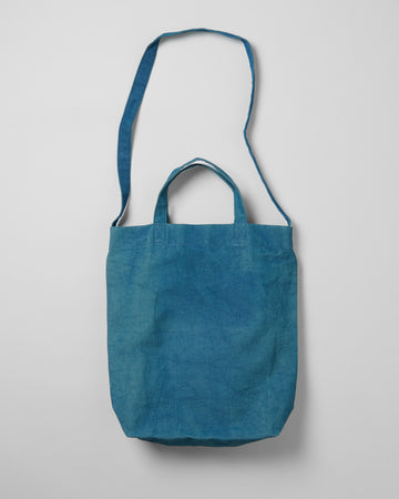 2-WAY NATURAL-DYE BASIC TOTE BAG
