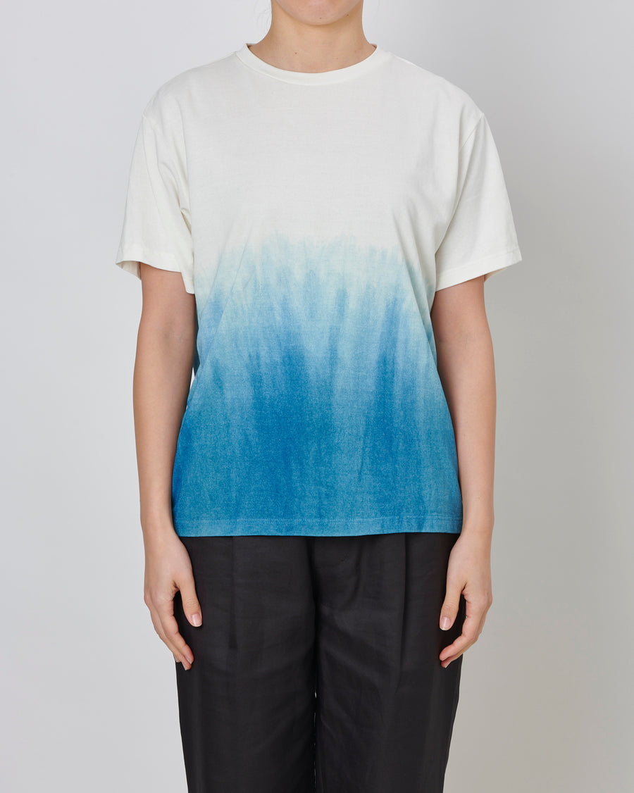 UNISEX NATURAL-DYE GRADATION T-SHIRT