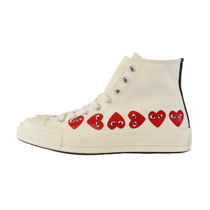 Converse Chuck Taylor All-Star 70s Hi Comme des Garcons Play Multi-Heart - White | Australia