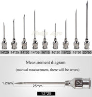 10pcs Syringe Stainless Steel Needles for Animals Injection - FastAndSafeStoreFastAndSafeStore