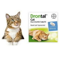 Bayer Drontal Dewormer for Cats Allworms Round and Tap Worm 8/40 Tabs - FastAndSafeStoreFastAndSafeStore