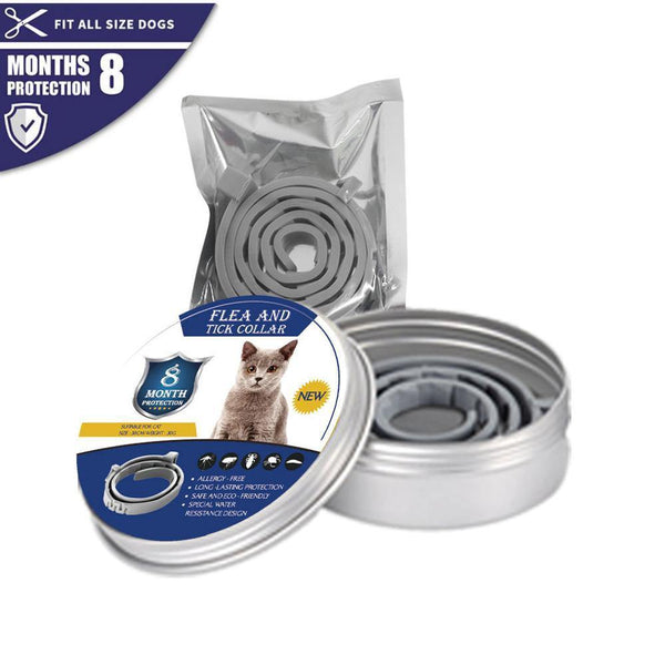 New Dogs and Cats Flea and Tick Collar - 8 Months Long-term Protection - FastAndSafeStoreFastAndSafeStore