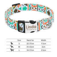 Personalized Dog Collar Engraved with ID Tag Nameplate Reflective - FastAndSafeStoreFastAndSafeStore