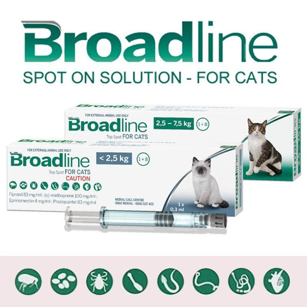 Broadline Spot On Solution For Cats - Fipronil , Praziquantel - FastAndSafeStoreFastAndSafeStore