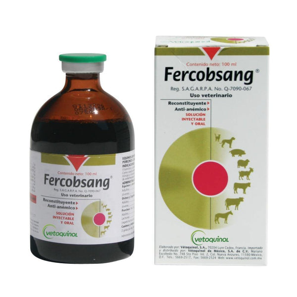 Vetoquinol Fercobsang 100ml For Cats & Dogs - Iron and Multivitamins - FastAndSafeStoreFastAndSafeStore