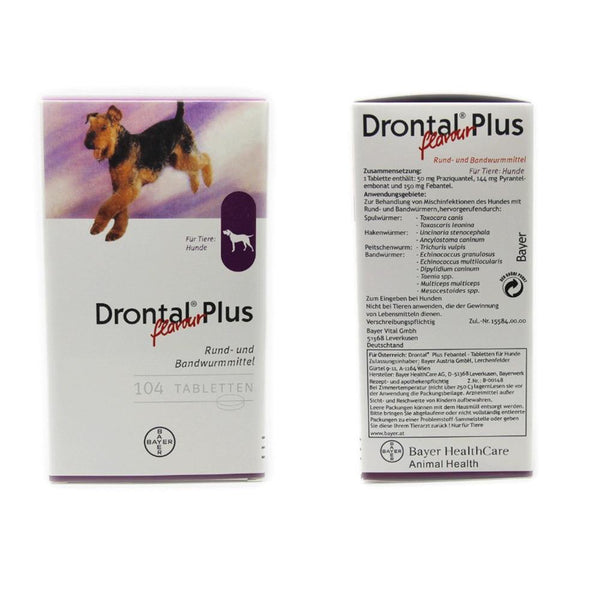 Drontal Plus For Dog 8/32/104 Tablets (Tapeworm Dewormer for Dogs) - FastAndSafeStoreFastAndSafeStore