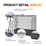 "Folding Dog Crate | Dog Crate Features Space-Saving Overhead ""Garage"" Style Door & Comes Fully Equipped w/ Replacement Tray, Divider Panel & Floor Protecting Roller Feet - FastAndSafeStoreFastAndSafeStore"