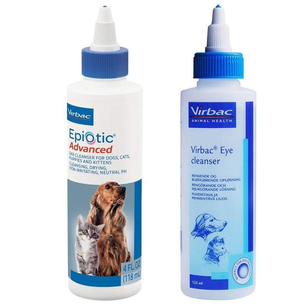 Virbac Epi-Otic Advanced Ear/Eye Cleanser For Dogs and Cats (60/125ml) - FastAndSafeStoreFastAndSafeStore