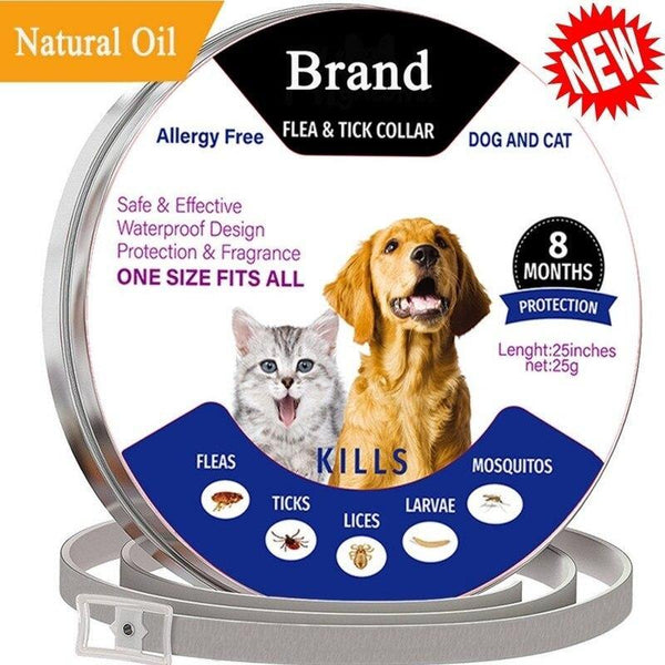 Dogs and Cats Adjustable Collars Mite Protection Fleas Ticks Lices Forceps Mosquitos Control and Reject - Fits All Size - FastAndSafeStoreFastAndSafeStore