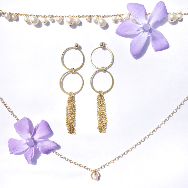luxury jewellery and summer flowers