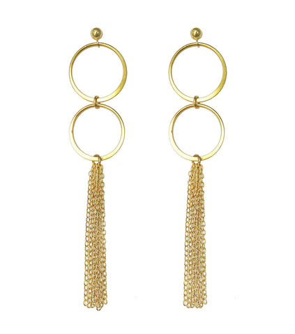 Gold Catalan Tassel Earrings