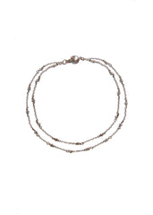 Fine jewellery: silver layered anklet