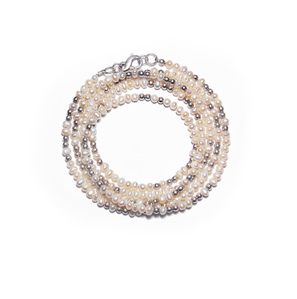 Designer jewellery: convertible pearl bracelet & pearl necklace
