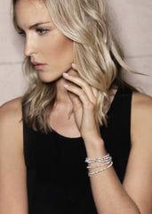 Fine jewellery: silver and pearl wrap bracelet