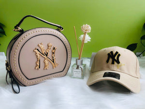 Tan Hat & Purse Set