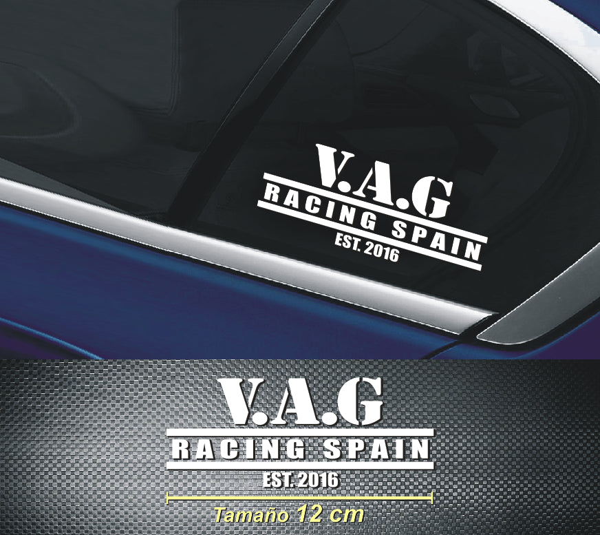 Pegatinas Vag Racing Spain New (x3)