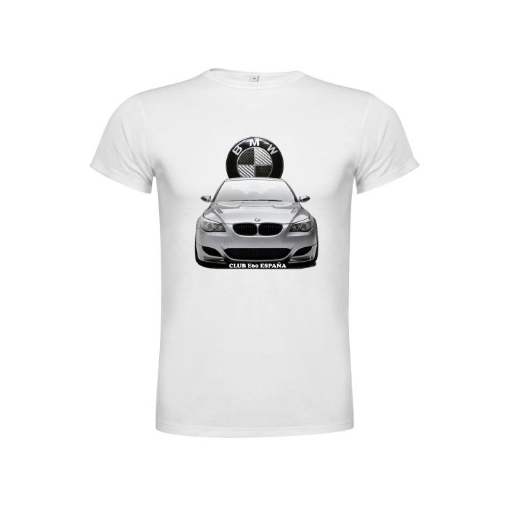 Camiseta Club BMW E60 España Carbono Blanca