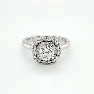 Round Brilliant Double Halo Engagement Ring (1.32CTW)