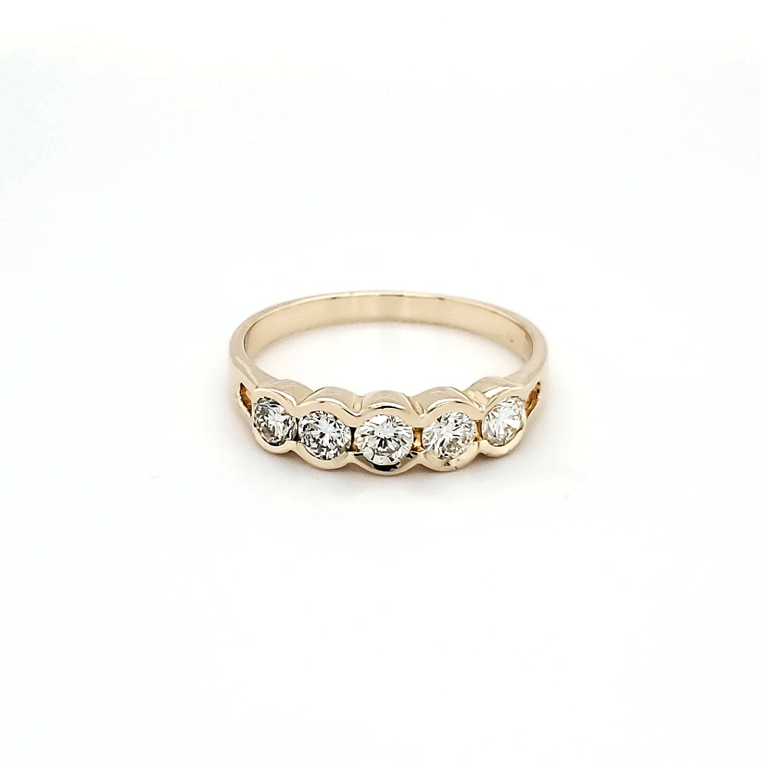 Bezel-Set Diamond Band (.59CTW)