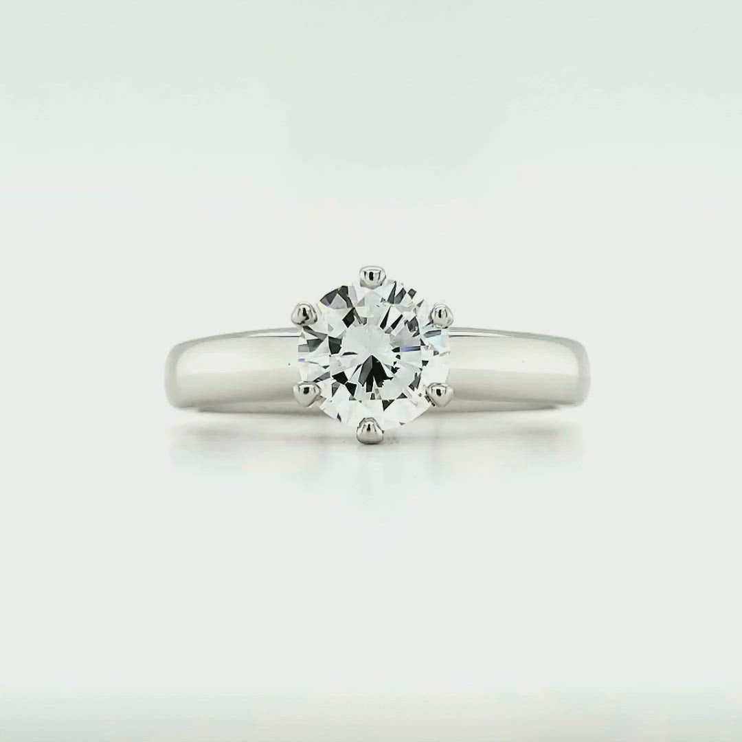 Platinum Round Brilliant Solitaire (.94CT)