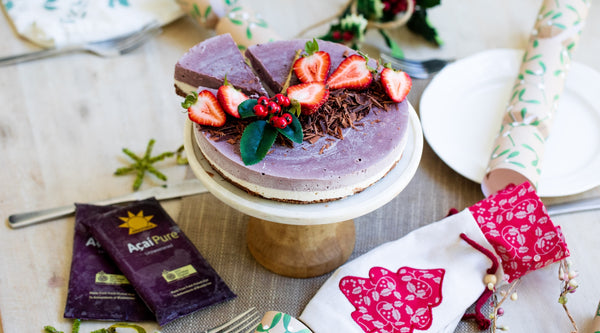 Vegan Acai Cheesecake