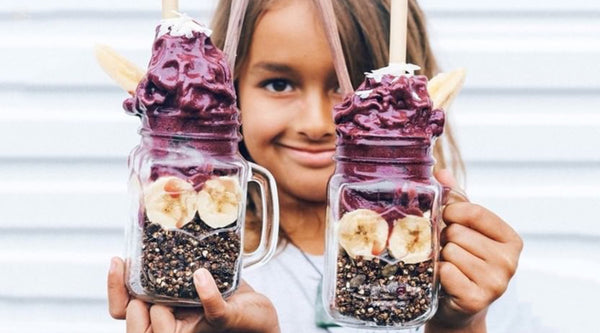 Acai Granola Smoothie Jar