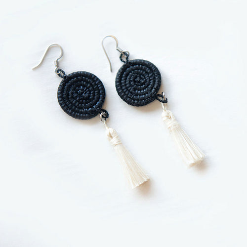 Inshunda Woven Tassel Earrings