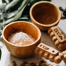 Load image into Gallery viewer, Hand Carved Wooden Measuring Cup Set