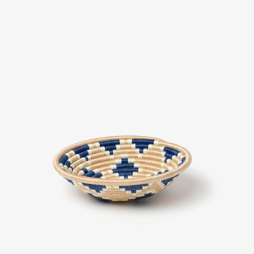 Akaneri Woven Basket-Baskets-Azizi Life-Indigo Diamonds-Small-Jabulani Creations