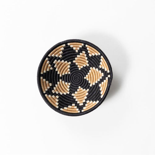 Akaneri Woven Basket-Baskets-Azizi Life-Tea Diamonds on Black-Small-Jabulani Creations