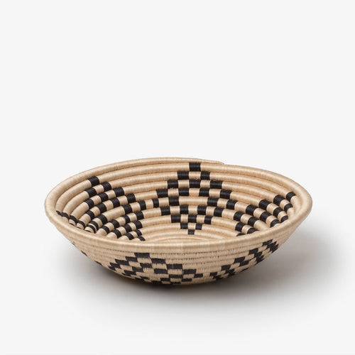 Bariku Woven Basket-Baskets-Azizi Life-Black-Medium-Jabulani Creations